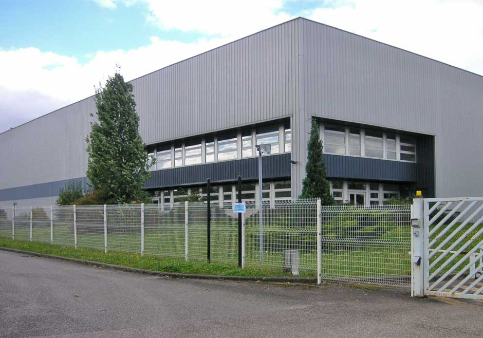 Emarc Group's worldwide network: Manufacturing plant in Argancy, France