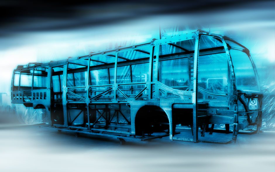Steel Space Frame of an Iveco Irisbus